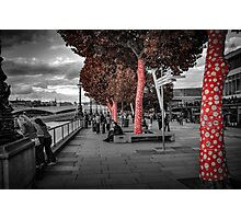Autumn Candy Trees by the Thames Photographic Print