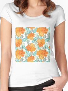 Brush Flower Women's Fitted Scoop T-Shirt