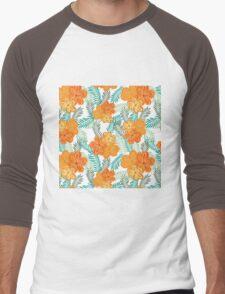 Brush Flower Men's Baseball ¾ T-Shirt