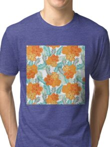 Brush Flower Tri-blend T-Shirt