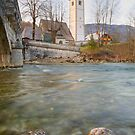Lake Bohinj as it flows under the bridge by Ian Middleton