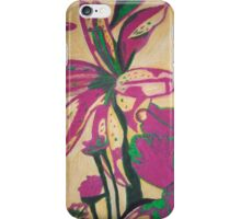 Retro Flowers with yellow background iPhone Case/Skin