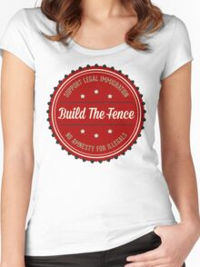 Build The Fence Women's Fitted Scoop T-Shirt