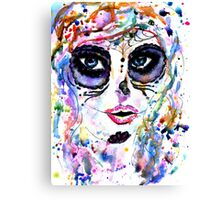 Sugar Skull Girl Canvas Print
