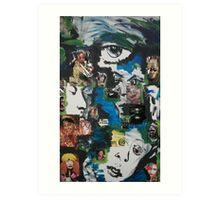 Masks Of Life Art Print