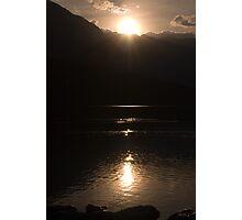 Sunset over Lake Bohinj Photographic Print