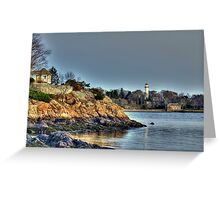 Scenic View of Manchester By the Sea   Greeting Card