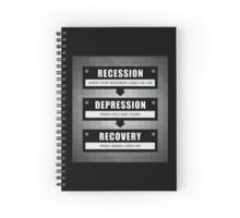 No Recovery With Obama Spiral Notebook