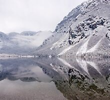Icy mountain reflections by Ian Middleton