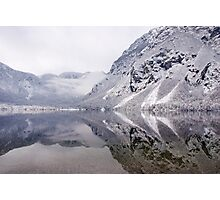 Icy mountain reflections Photographic Print
