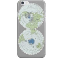 Old Map of the World - Poles iPhone Case/Skin
