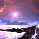 Earthquake Chasm on Alien Planet by SpinningAngel