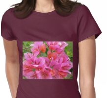 Pink Bougainvillea Womens Fitted T-Shirt
