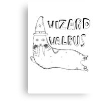 Wizard Walrus (black) Canvas Print