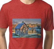 The Little House & the Frost .. HDR Tri-blend T-Shirt