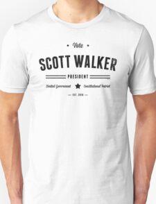 Vote Scott Walker Unisex T-Shirt