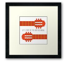 Guitar sound of music Framed Print