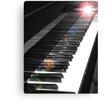 Light Touch on the Keyboard Canvas Print