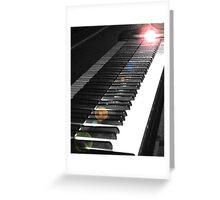 Light Touch on the Keyboard Greeting Card