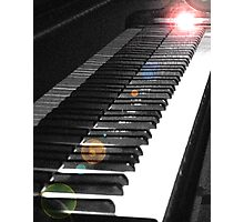 Light Touch on the Keyboard Photographic Print
