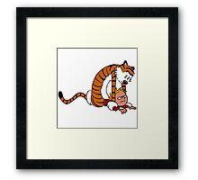 Calvin & Hobbes,Street Fighter Framed Print