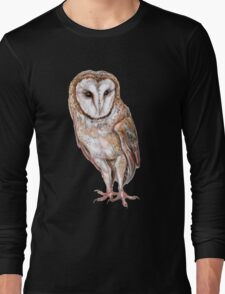 Barn owl drawing Long Sleeve T-Shirt