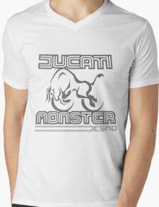 Ducati Textured Mens V-Neck T-Shirt