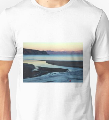 Blue and gold sunset Unisex T-Shirt