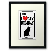 i love my bombay Framed Print