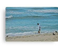 *Heels in the surf, spirit  in the clouds* Canvas Print