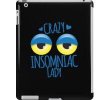 Crazy Insomniac Lady iPad Case/Skin