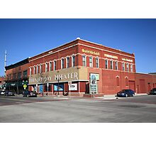 Alpena, Michigan - Thunder Bay Theater Photographic Print