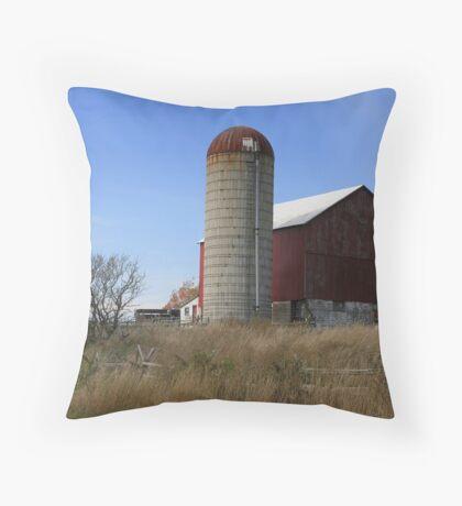 A Typical Rural Farm! Throw Pillow