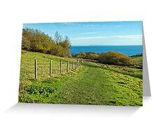 Coastal Path Walk ~ Lyme Regis Greeting Card