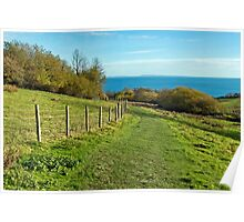Coastal Path Walk ~ Lyme Regis Poster