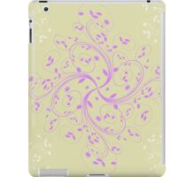 Abstract retro floral background  iPad Case/Skin