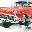 Red Chevrolet 1957 by Yuriy Shevchuk