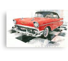 Red Chevrolet 1957 Canvas Print