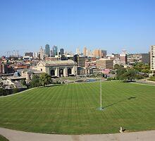 Kansas City Skyline and Park by Frank Romeo