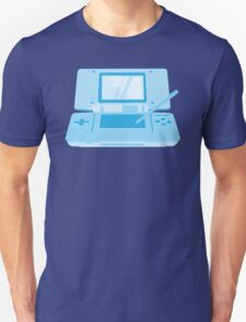 handheld computer game system in blue Unisex T-Shirt