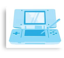 handheld computer game system in blue Canvas Print