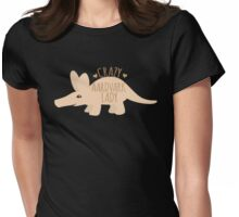 Crazy AARDVARK Lady Womens Fitted T-Shirt