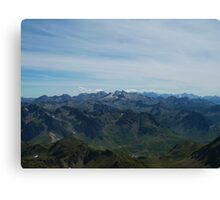 The Valley Below Canvas Print
