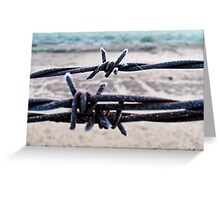Cold Twisted Metal Greeting Card