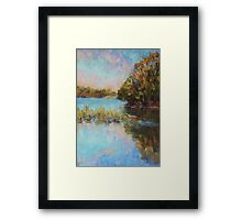 Lake Cathie late afternoon Framed Print