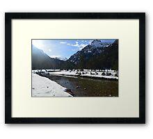 A Winters Walk Framed Print