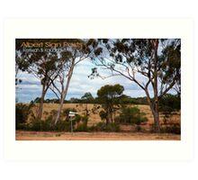 Albert Signs © Vicki Ferrari Photography Art Print