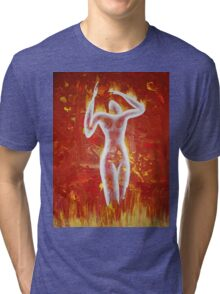 Woman born of fire Tri-blend T-Shirt