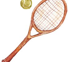 Tennis racket with tennis ball by lisenok