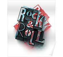 Rock'n' roll is red and bue Poster